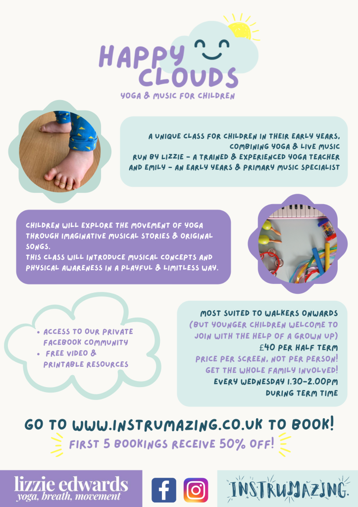 Happy clouds information poster